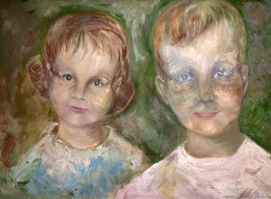 This is a painting my parents had of my sister Nicole and me, painted when we were very young. I wonder what these two kids would think about what they wanted to be when they grew up.