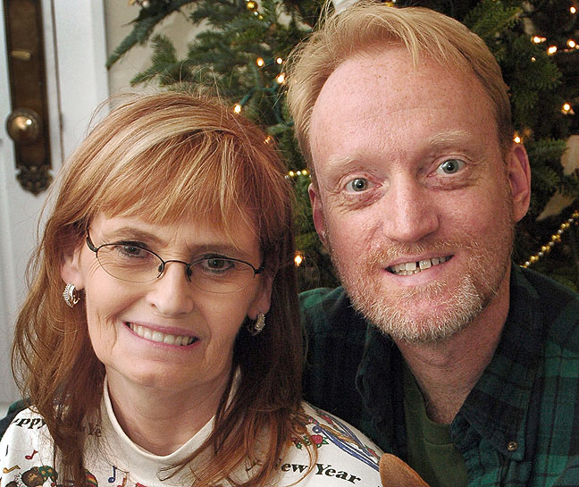 Abby and Richard pose for a Christmas portrait in New Orleans, December 2006.