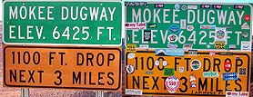 Mokee Dugway Signs