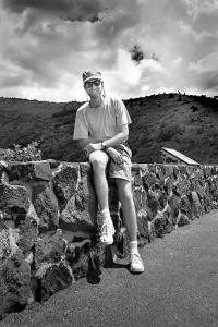 The author poses for a snapshot at Capulin Volcano National Monument, New Mexico.