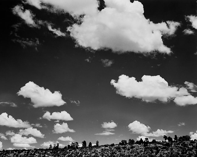 Ridge and Afternoon Clouds, Eastern New Mexico.