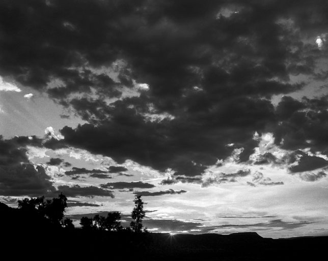 I originally shot this sunset Villanueva, New Mexico in color, but it rendered far better in black and white.
