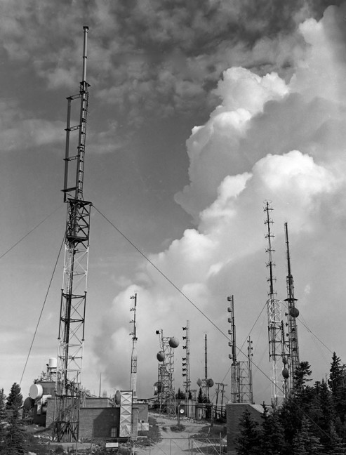This is the antenna farm at the top of Sandia Crest.
