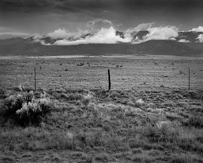 This view shows the San Mateo Mountains west of Socorro, New Mexico. I made this image on the drive east after visiting the Very Large Array.