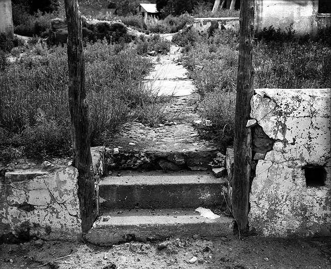Frame and steps, Villanueva, New Mexico