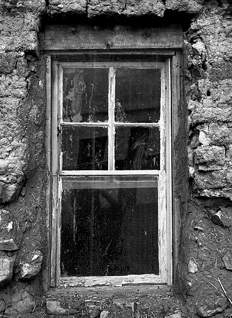 Window, adobe house, Villanueva, New Mexico.