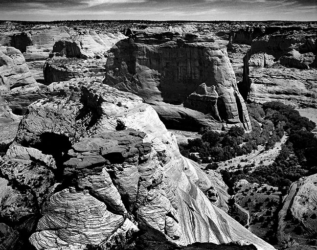 This image of Canyon de Chelly was made on medium format black-and-white film, with the work of the great Ansel Adams in mind.
