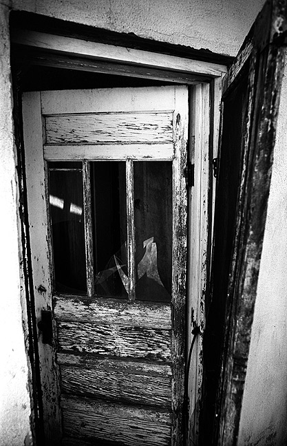 This dilapidated door at Cuervo lent itself perfectly to a black-and-white rendering.