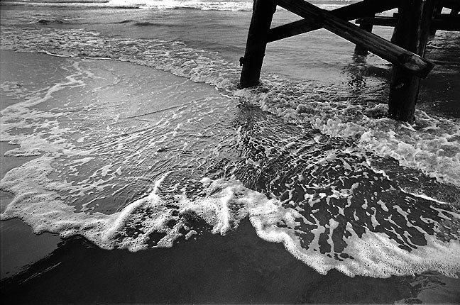 Surf and pier, Grand Isle State Park