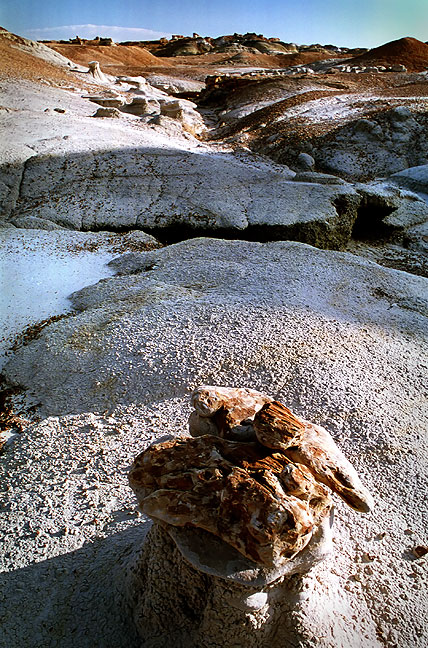 Hoodoo and eroded Kirtland shale, northern Bisti Wildernes, New Mexico.