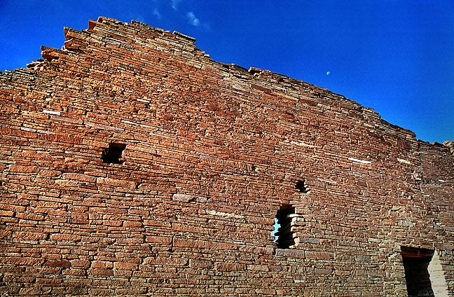 Rear wall of Pueblo Bonita, Chaco