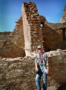 Your host poses at the Kin Kletso Great House, Chaco Canyon