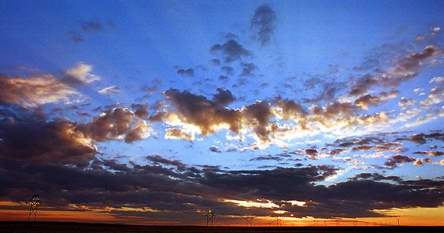 Sunrise on the Bisti Highway, northwestern New Mexico