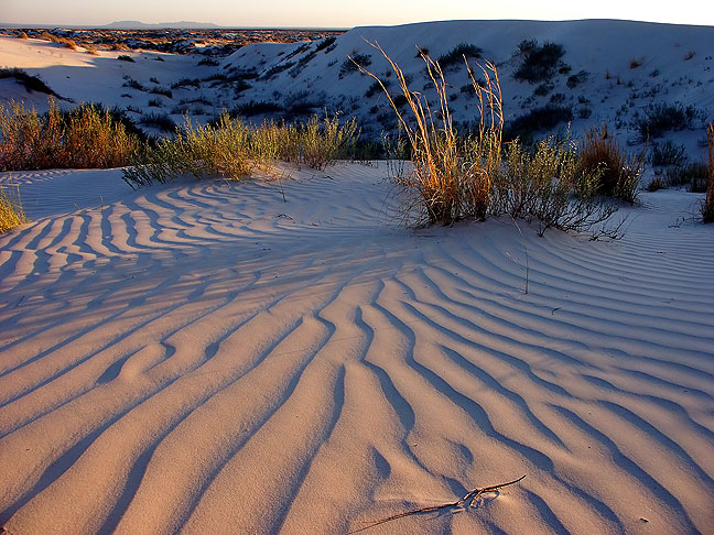 Gypsum dunes at last light