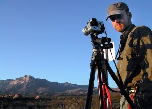 I made stills, video, and this self portrait as I watched the evening light mature over the Guadalupe Mountains.