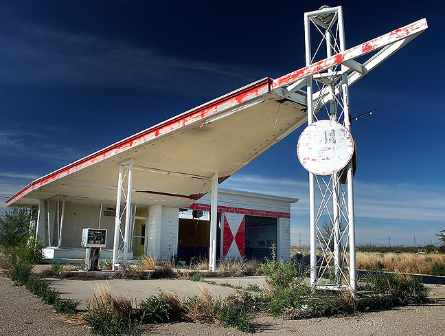 I made this image of an abandoned filling station south of Whites City, New Mexico en route to Carlsbad Caverns.