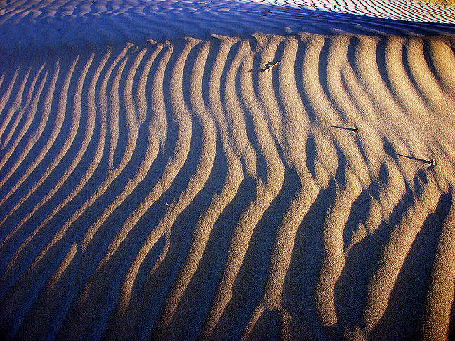 Light and shadow, gypsum dunes.