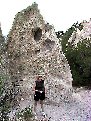 Abby smiles as she wanders Tent Rocks.