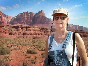 Abby smiles for my camera at Vermillion Cliffs.