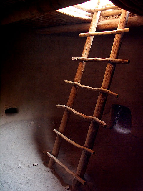 View inside ceremonial kiva, Bandelier National Monument