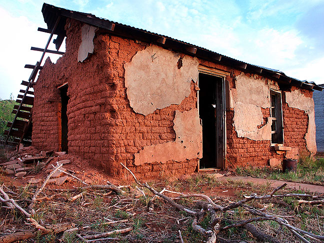 Abandoned house, Cuervo, New Mexico.