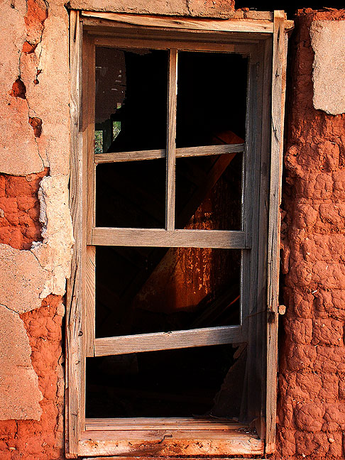 Window, abandoned house, Cuervo, New Mexico.