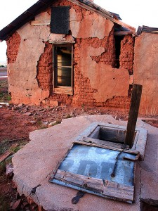 Well and abandoned house, Cuervo, New Mexico.