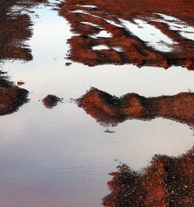 Puddle, side road, Cuervo, New Mexico.