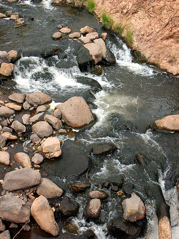 ... photographing the Jemez River from above.