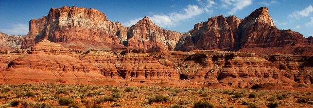 The Vermilion Cliffs in northern Arizona stand in handsome mid-morning light. (Click to see it larger.)