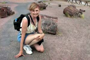 Abby at Petrified Forest National Park, Arizona