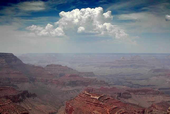 This is one of Abby's images, emphasizing the haze and smoke we encountered at the Grand Canyon.