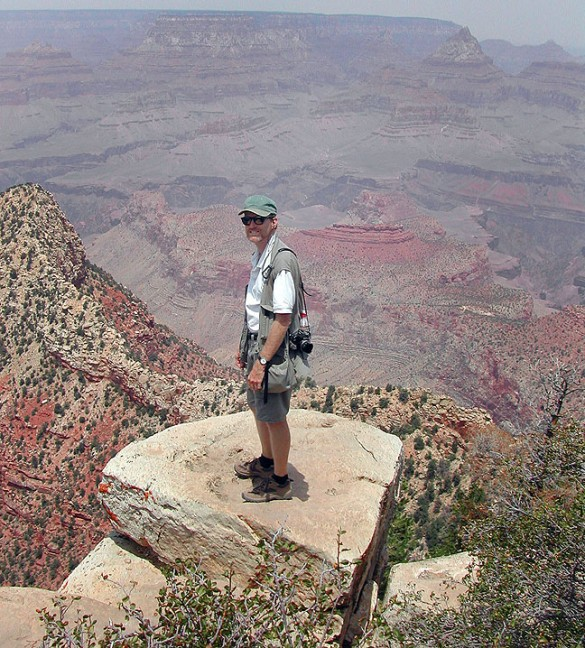 Abby spotted me on an outcropping on the south rim of the Grand Canyon, and though she photographed me, she wouldn't come out there with me.