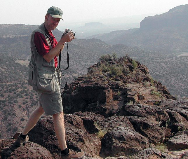 Abby made this image of me making pictures at the White Rock Overlook. You can see a fair amount of haze and smoke from distant wildfires.