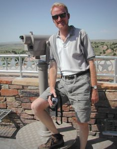 Your host poses at a rest stop in the Texas panhandle.