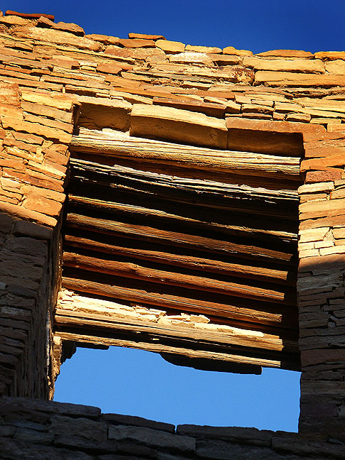 Masonry window, Pueblo Bonito.