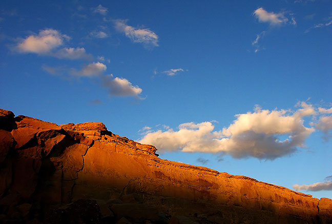 Last light on the Pueblo Bonito Great House, Chaco Culture National Historical Park