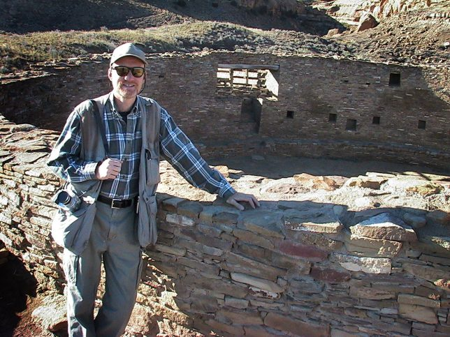 Your host poses at the Casa Rinconada Great House.