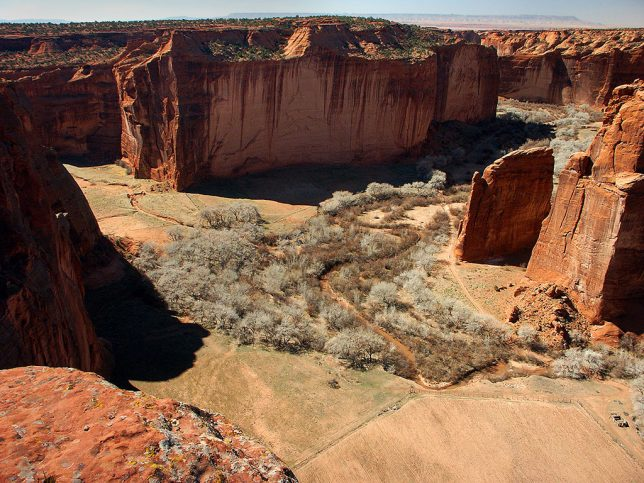 This view looks north down Canyon de Chelley.
