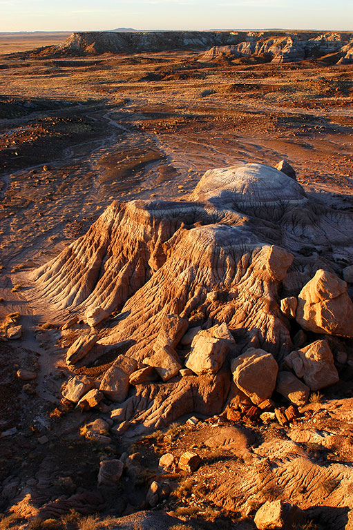 Last light approaches at Petrified Forest National Park, Arizona.