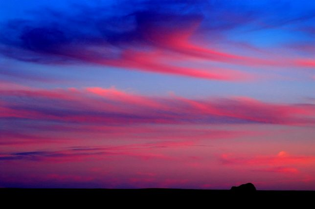 On the way out of Petrified Forest, we made this image of the sky about 20 minutes after sunset.