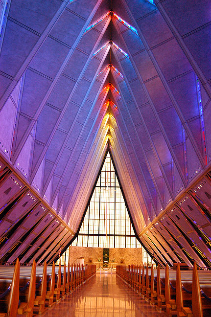The Air Force Academy Chapel was one of the best surprises on this trip. I only shot it because I saw a sign for it as I drove south of Denver.