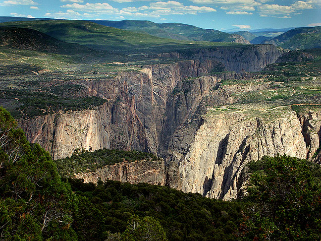 This view is from Green Mountain at the top of the North Vista trail, looking east, at Black Canyon of the Gunnison.