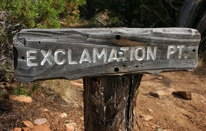 It's a rare pleasure to find trails with funny names, like this one at Black Canyon of the Gunnison.
