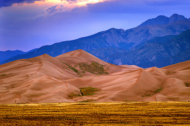 Set against a backdrop of the Sangre de Cristo Mountains of southern Colorado, some of the dunes reach 750 feet high.