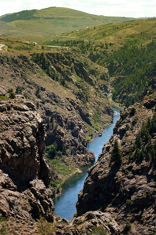 The Gunnison River winds through west-central Colorado. The drive from Black Canyon to Colorado National Monument is beautiful.