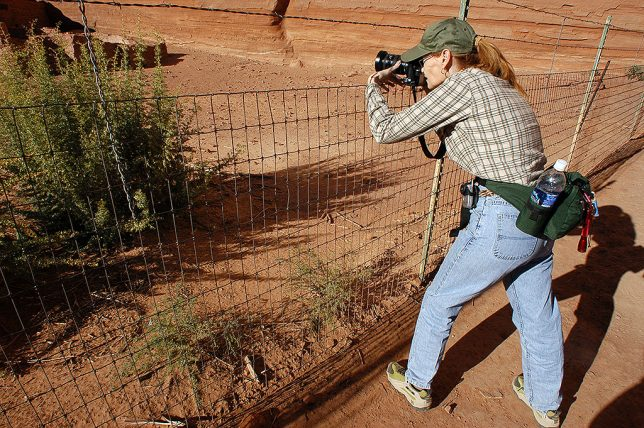 Abby makes pictures at the White House Ruin at Canyon de Chelly National Monument in Arizona.