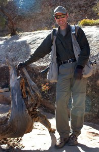 Richard poses on the Primitive Loop trail at Arches.