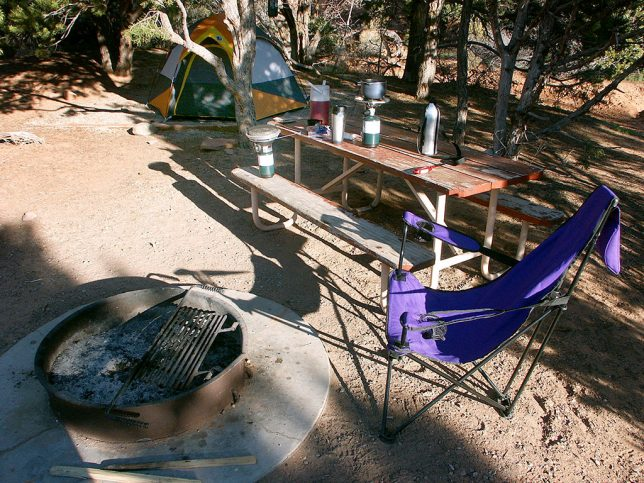 This is my camp site in the Squaw Flat Campground. It was quiet and private, and I slept well despite the cold.