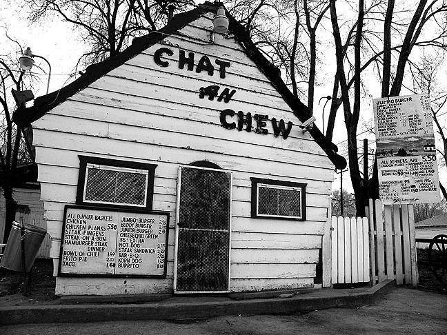 I found the Chat N Chew restaurant in the Fruitland Valley in northwestern New Mexico.